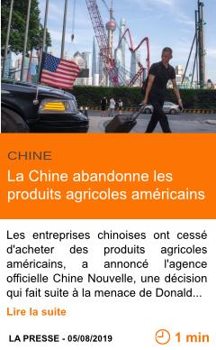 Economie la chine abandonne les produits agricoles americains page001