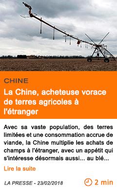 Economie la chine acheteuse vorace de terres agricoles a l etranger