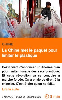 Economie la chine met le paquet pour limiter le plastique
