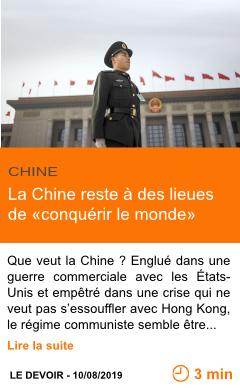 Economie la chine reste a des lieues de conquerir le monde page001
