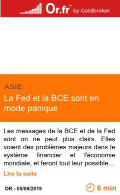Economie la fed et la bce sont en mode panique page001