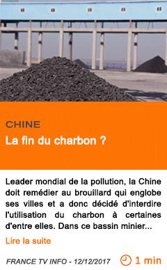 Economie la fin du charbon