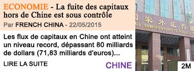 Economie la fuite des capitaux hors de chine est sous controle