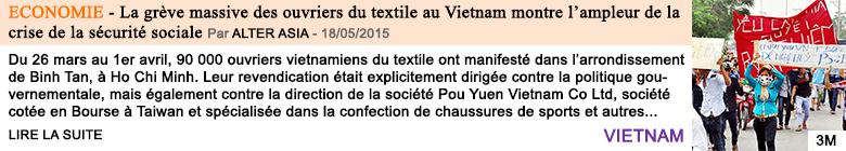 Economie la greve massive des ouvriers du textile au vietnam montre l ampleur de la crise de la securite sociale
