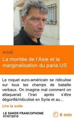 Economie la montee de l asie et la marginalisation du paria us page001