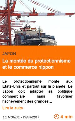 Economie la montee du protectionnisme et le commerce nippon