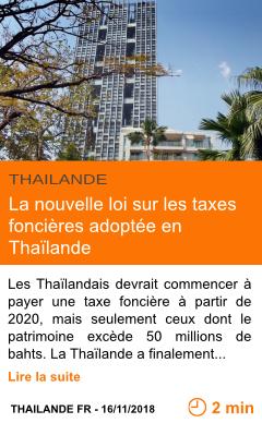 Economie la nouvelle loi sur les taxes foncieres adoptee en thailande page001