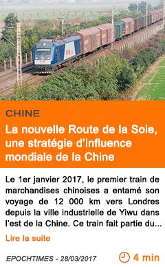 Economie la nouvelle route de la soie une strategie d influence mondiale de la chine