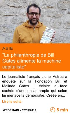 Economie la philanthropie de bill gates alimente la machine capitaliste page001