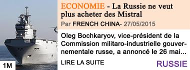 Economie la russie ne veut plus acheter des mistral