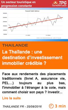 Economie la thailande une destination d investissement immobilier credible