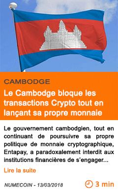 Economie le cambodge bloque les transactions crypto tout en lancant sa propre monnaie