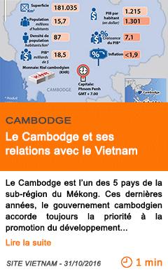 Economie le cambodge et ses relations avec le vietnam