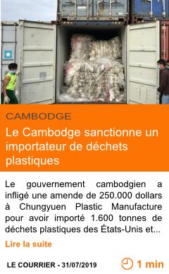 Economie le cambodge sanctionne un importateur de dechets plastiques page001
