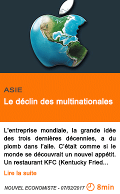 Economie le declin des multinationales
