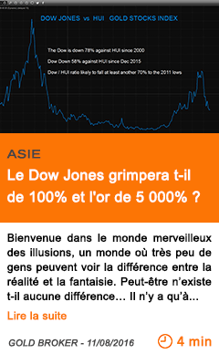 Economie le dow jones grimpera t il de 100 et l or de 5 000