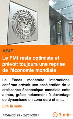 Economie le fmi reste optimiste et prevoit toujours une reprise de l economie mondiale