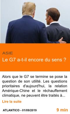Economie le g7 a t il encore du sens page001