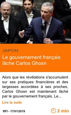 Economie le gouvernement francais lache carlos ghosn page001