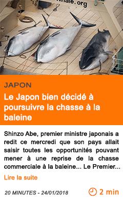 Economie le japon bien decide a poursuivre la chasse a la baleine
