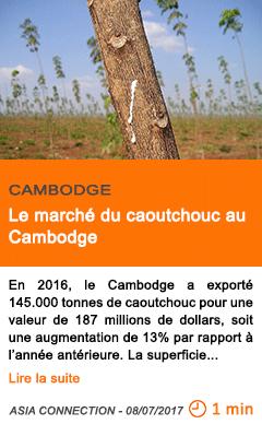 Economie le marche du caoutchouc au cambodge