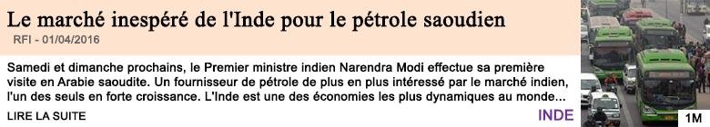Economie le marche inespere de l inde pour le petrole saoudien