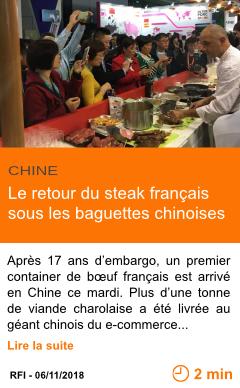 Economie le retour du steak francais sous les baguettes chinoises page001