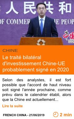 Economie le traite bilateral d investissement chine ue probablement signe en 2020 page001