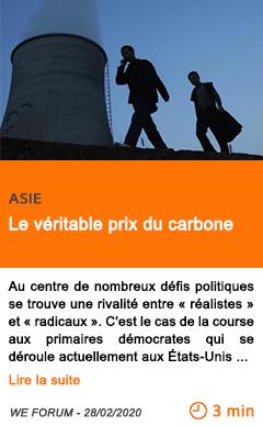 Economie le veritable prix du carbone