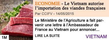 Economie le vietnam autorise l importation des viandes francaises