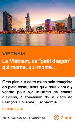 Economie le vietnam ce petit dragon qui monte qui monte