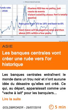 Economie les banques centrales vont creer une ruee vers l or historique 2