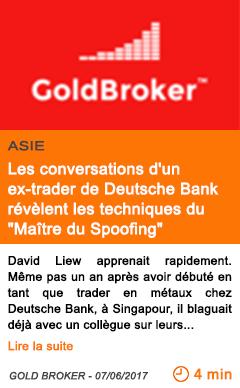 Economie les conversations d un ex trader de deutsche bank revelent les techniques du maitre du spoofing