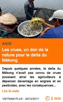 Economie les crues un don de la nature pour le delta du mekong