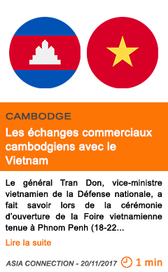 Economie les echanges commerciaux cambodgiens avec le vietnam