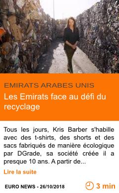 Economie les emirats face au defi du recyclage