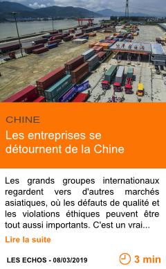 Economie les entreprises se detournent de la chine page001