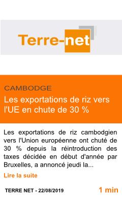 Economie les exportations de riz vers l ue en chute de 30 page001