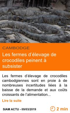 Economie les fermes d elevage de crocodiles peinent a subsister page001