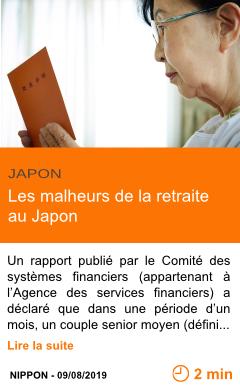 Economie les malheurs de la retraite au japon page001