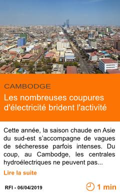 Economie les nombreuses coupures d electricite brident l activite page001