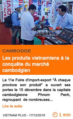 Economie les produits vietnamiens a la conquete du marche cambodgien
