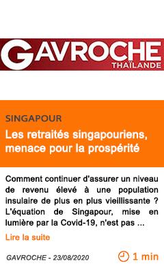 Economie les retraites singapouriens menace pour la prosperite 1