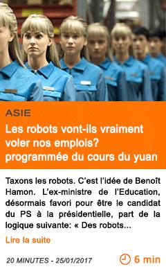 Economie les robots vont ils vraiment voler nos emplois