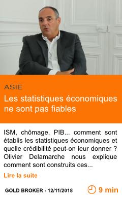 Economie les statistiques economiques ne sont pas fiables page001