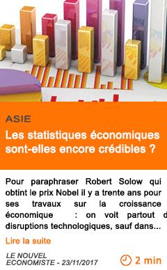 Economie les statistiques economiques sont elles encore credibles