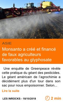 Economie monsanto a cree et finance de faux agriculteurs favorables au glyphosate page001