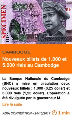 Economie nouveaux billets de 1 000 et 5