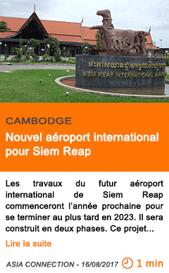 Economie nouvel aeroport international pour siem reap