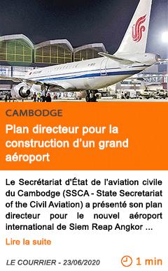 Economie plan directeur pour la construction d un grand aeroport
